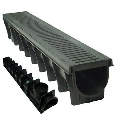 4 x Drain Channel Deep Drainage Plastic PVC Heavy Duty for Water Rain Storm Show