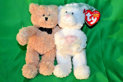 TY Beanie Babies: BLISSFUL the Wedding Bears (set of 2) (6.5 inch)