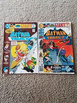 2 DC Comics BATMAN FAMILY Giant #4 #7 1976