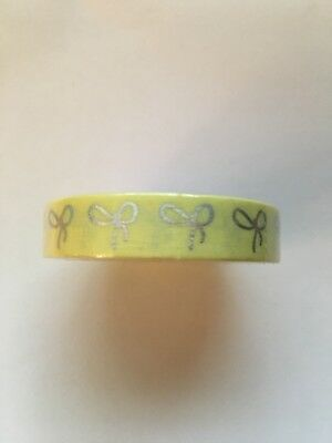 Simply Gilded Candy Yellow 10mm Bow With Holo Foil Washi Tape