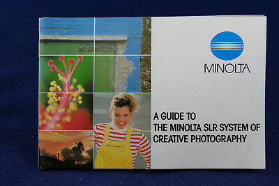 Guide to the Minolta SLR System of Creative Photography booklet