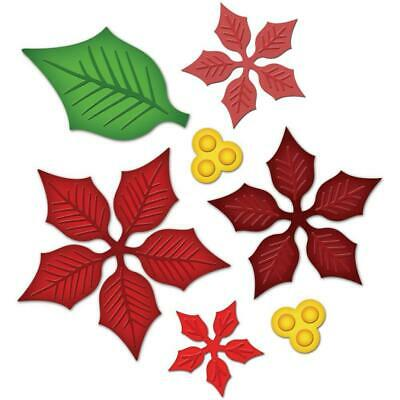 Spellbinders Dies Layered Poinsettia 7 piece metal cutting die set Flower