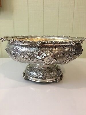 Vintage Sterling Silver Footed Fruit Bowl - Greek Hallmarks 🍇🍎🍐🍑