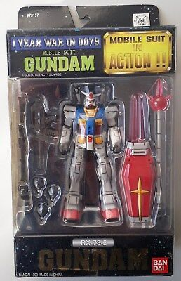 Mobile Suit Gundam In Action Rx-78-2 Action Figure Robot Bandai 1 Year In 0079