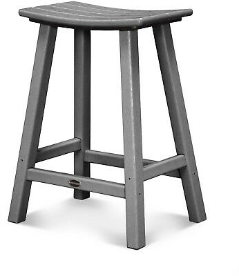 Polywood Traditional 24 Inch Outdoor Saddle Bar Stool 15735