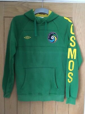 UMBRO New York Cosmos Green Full Zip Hoodie | American Soccer | Size Small