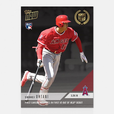 Topps NOW MOY2 Shohei Ohtani First Hit First At Bat Angels Moment of the Year 2