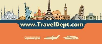 TravelDept.com Domain Name URL for Travel Vacation Tours Great Business Website