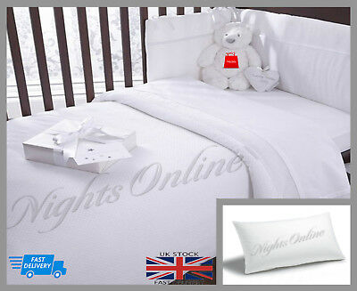 Cot Bed Pillow Anti Flat Head Syndrom Ultra Soft Nursery Junior Baby Kids Pillow