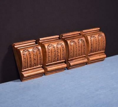 """*4"""" French Antique Trim Panels/Corbels in Walnut Wood"""