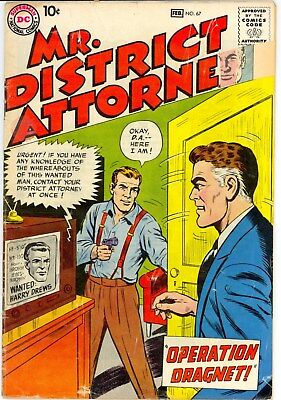 Dc :: Mr. District Attorney # 67 :: G/vg (3.0) :: Feb 1959 :: 99 Cent No Reserve