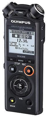 New! OLYMPUS LS-P4 Linear PCM Recorder Black from Japan Import!