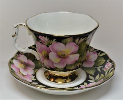 ROYAL ALBERT Bone China England Provincial Flowers ALBERTA ROSE Set Cup & Saucer