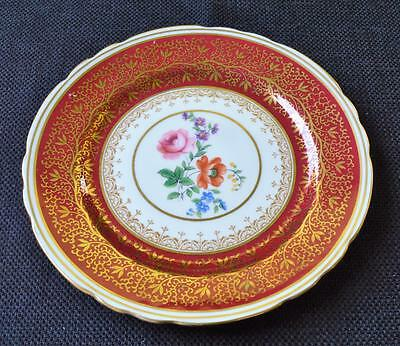 "Vintage 30s AYNSLEY Bone China England Red BERKELEY #7741 5 1/2""d Saucer"