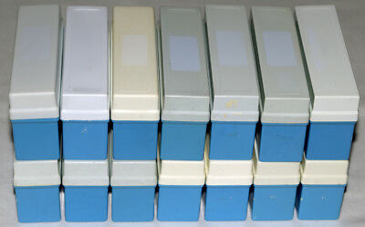 14 x Fuji Light Blue 35mm Slide Storage Boxes with Lids