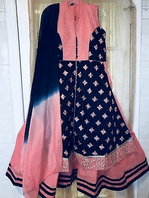 Indian Pakistani Ethnic Long gown dress Large size laest READY TO WEAR
