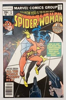 Spider-Woman #1 1978 Origin Issue High Grade NM+ Signed By STAN LEE Spiderman 1