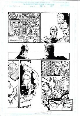 Avengers Volume 3 Issue 12 page 6 Original Art George Perez  Captain America!