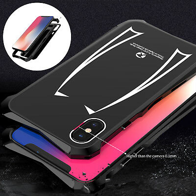 Shockproof Heavy Duty Metal Aluminum Armor Back Case Cover Fr iPhone XS Max XR X