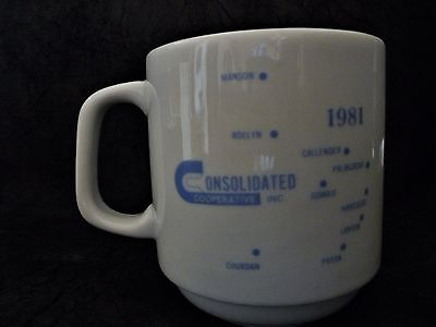 1981 Consolidated cooperative mug Manson Iowa ( and other Iowa towns)