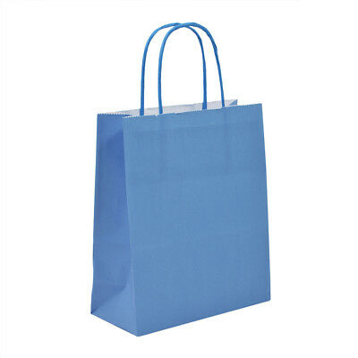 Luxury Bright Blue Paper Carrier Bags with Twisted Handles - Paper Shopping Bags
