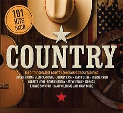 COUNTRY 101 Hits 5CD Special Edition - The Greatest 101 Country Artists & Songs