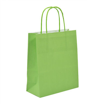 Luxury Bright Green Paper Carrier Bags with Twisted Handles - Paper Shopping Bag