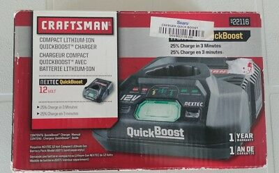 Craftsman Compact Lithium-Ion Quickboost Nextec 12 Volt Charger 22116