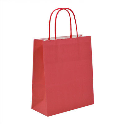 Luxury Bright Red Paper Carrier Bags with Twisted Handles - Paper Shopping Bags