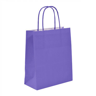 Luxury Purple Paper Carrier Bags with Twisted Handles - Paper Shopping Bags