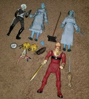 Farscape Action Figure Lot Ka Dargo Zhan Chiana Toy Vault Luxan Warrior DRDs