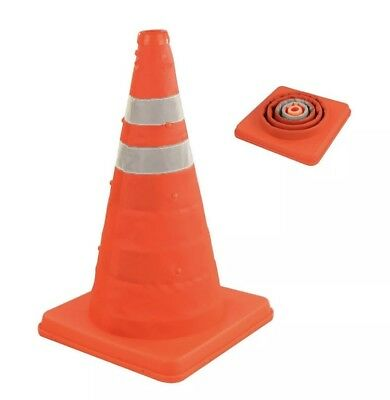 """Pop Up Safety Cone 18"""" High Visibility Emergency Accident Sporting Traffic Post"""