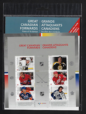 Canada Stamps — Souvenir Sheet — NHL® Great Canadian Forwards #2941 — MNH