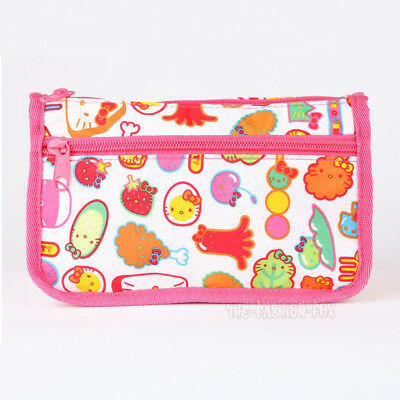 New RARE Sanrio Hello Kitty Sushi Bento Box Food Cosmetic Bag Makeup Pouch Case