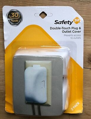 Safety 1st Safety First Two Double Touch Plug And Outlet Covers! New And Sealed!