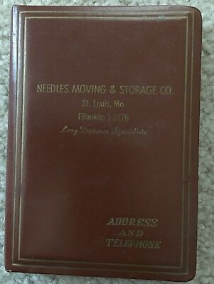 Address, telephone book, Needles Moving & Storage, St. Louis