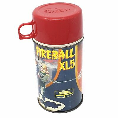 VTG 1964 Fireball XL5 Space Rocket Glass Metal King-Seeley Thermos Only Rare HTF