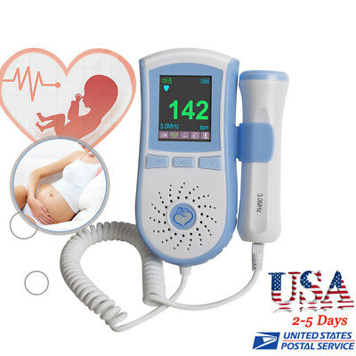 Fetal Heart detector Baby Doppler Sound Heart Monitor 3Mhz probe LCD display