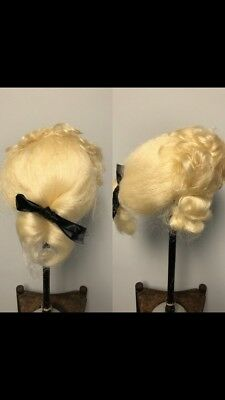 Vintage 1960' Scottish Rite Regalia Colonial Style Mens  Wig. Cosplay