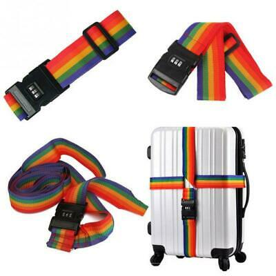 Luggage Strap Belt 3 Digit Password Lock Cross Suitcase Travel Baggage Protector