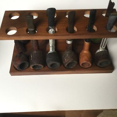 8 ESTATE SMOKING Pipes With 12 Falrfax Pipe Holder, Al  Stemmed Falcon,  Briars,