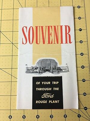 Vintage Souvenir Of Your Trip through the Ford Rouge Plant 1939