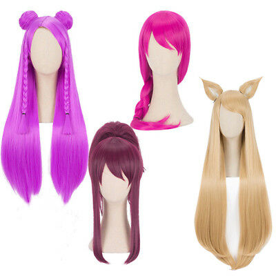 Ahri Akali Evelynn Kaisa Cosplay Wig KDA New Skin for LOL League of Legends