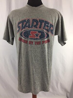 Vintage Starter T Shirt GRAFFITI Hip Hop 90s Worn by the Pros Gray Sz Large