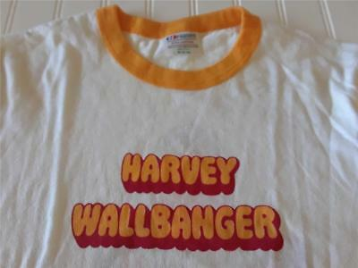 Vtg 1982 Hanes USA 50/50 Harvey Wallbanger Ringer T Shirt Alcohol Promo Sz M