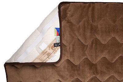 Mattress Cover,Bed Pad,Slipcover,Camel Wool (20.1 oz / M ²),78 11/16x78 11/16in
