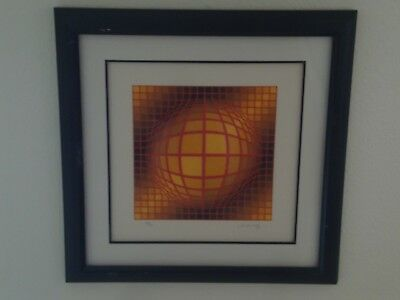Biga III by Victor Vasarely (Signed/Numbered, Limited Edition Framed Serigraph)
