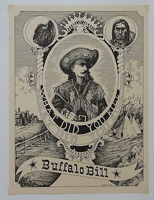 Buffalo Bill Poster By Crofutt What Did You Kill Tour Poster