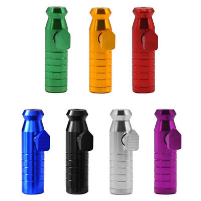 Portable Metal Aluminum Snuff Dispenser Snorter Powder Bullet Boxes New Vintage