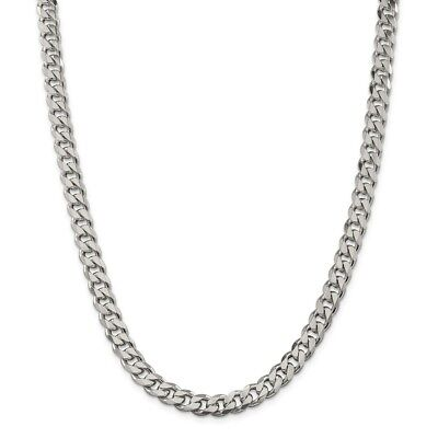 Sterling Silver 8mm Curb Chain New